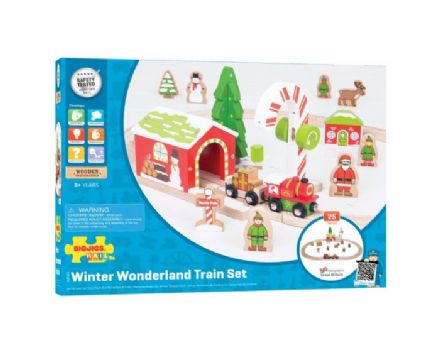 Bigjigs Rail - Winter Wonderland Train Set